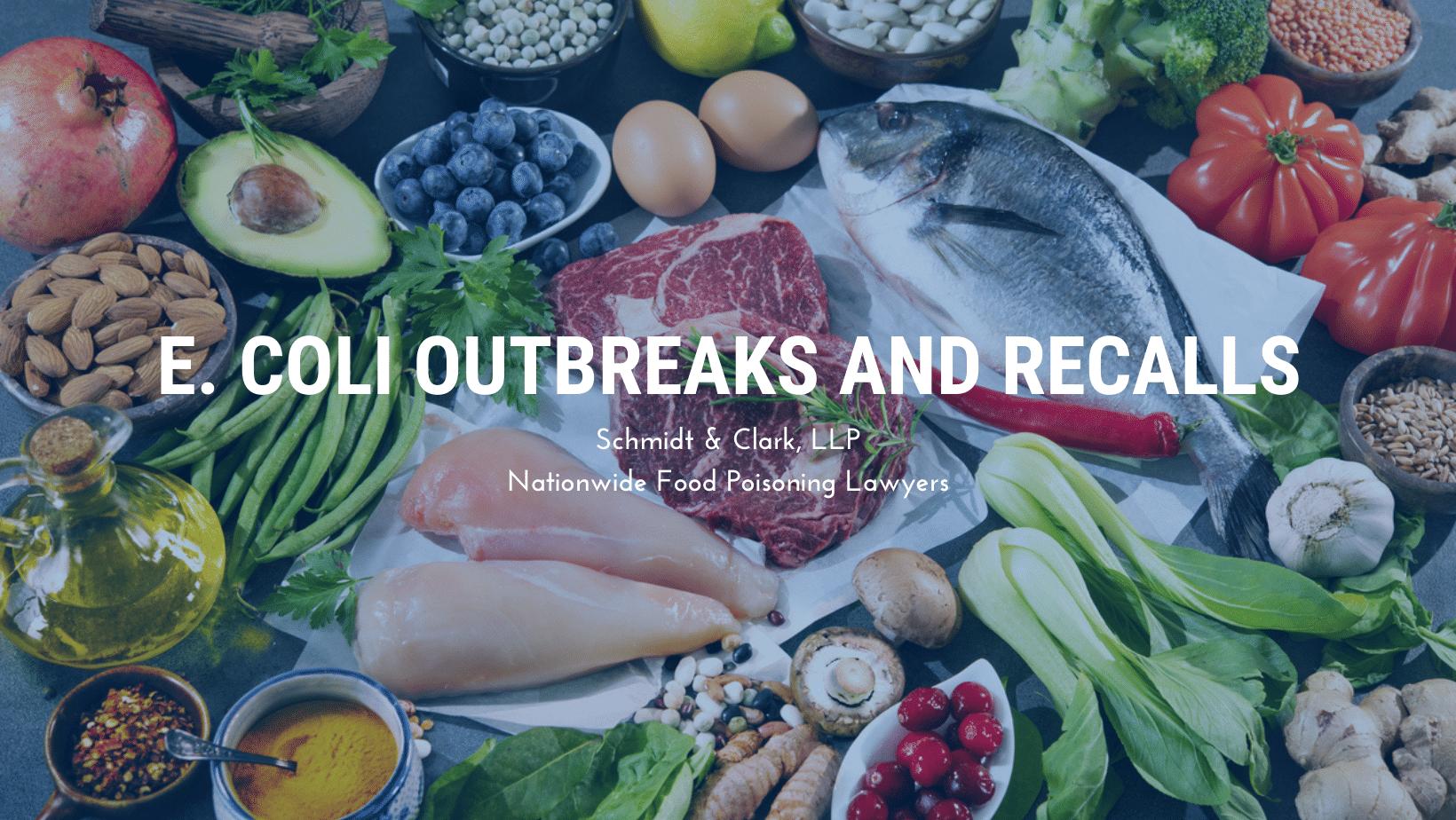 E. Coli Outbreaks and Recalls