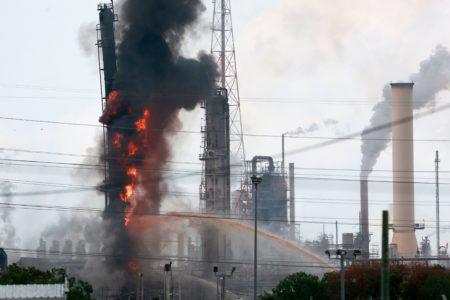 Exxon Mobil Refinery Fire