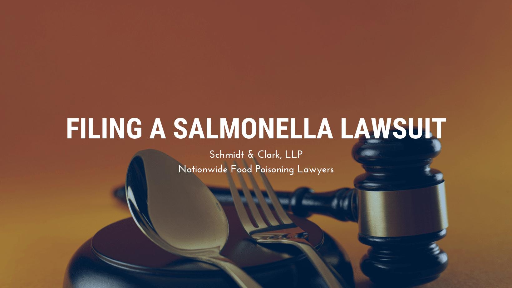 Filing a Salmonella Lawsuit