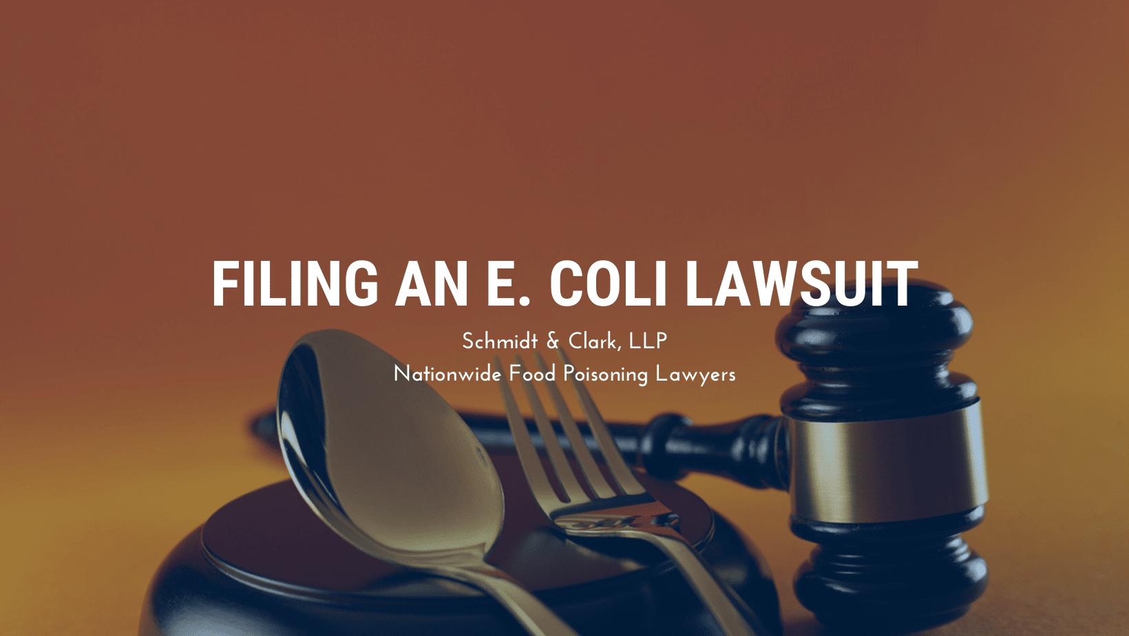 Filing an E. coli Lawsuit