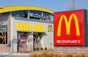 Image of a McDonald's potentially linked to food poisoning outbreak