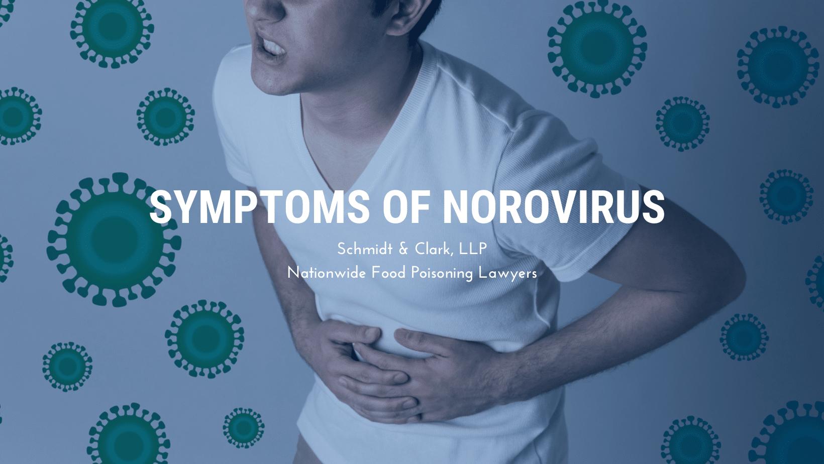 Symptoms of Norovirus