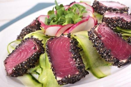 Seared tuna loin
