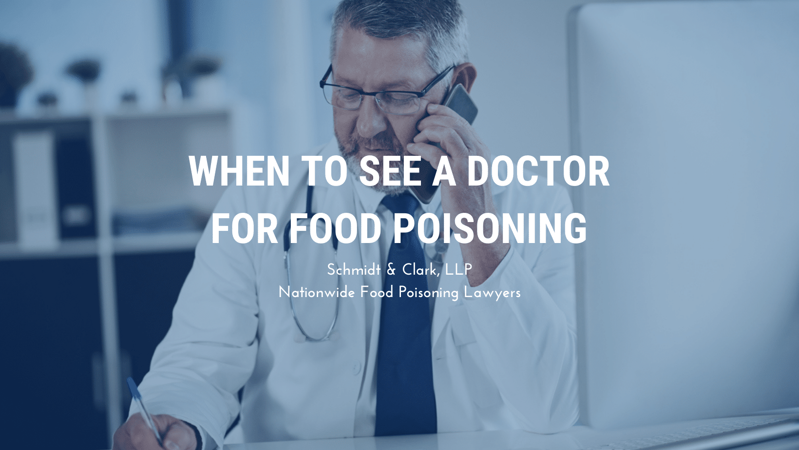 when to see a doctor food poisoning